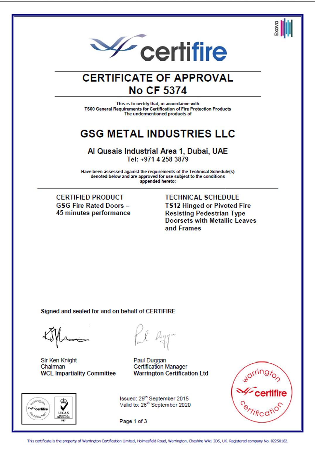 """GSG Metal Industries """""""